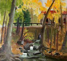 Sunny October Day at Gladwyne by Inna Lazarev