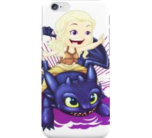 Elsa and Toothless Train Dragon iPhone Case/Skin