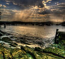 Stormy Weather - Paradise Beach, Sydney - The HDR Experience by Philip Johnson