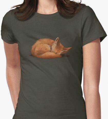 Let Sleeping Foxes Lie Womens Fitted T-Shirt