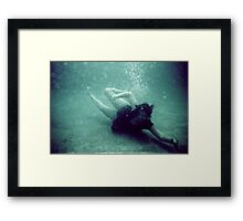 becoming the black crow Framed Print