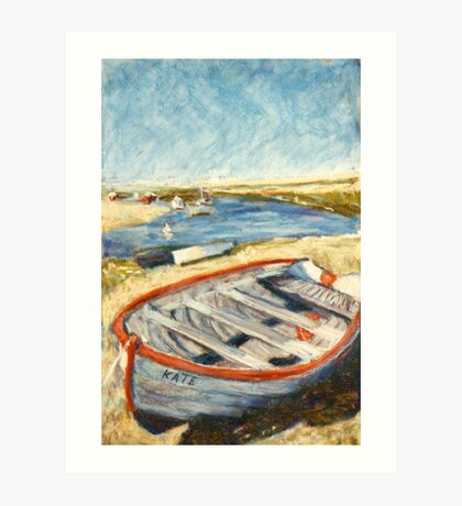 Boat - Burnham Overy Staithe, Norfolk, UK Art Print