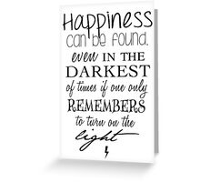Albus Dumbledore Quote - Harry Potter Greeting Card