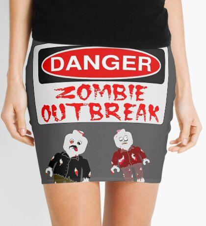 DANGER ZOMBIE OUTBREAK Mini Skirt