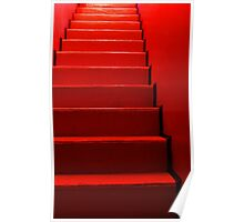 Red Stairs on Redbubble Poster