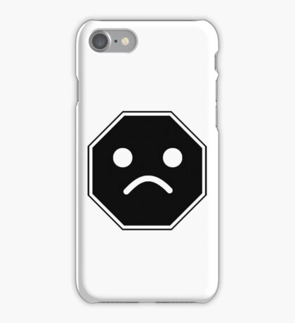 UNHAPPY MINIFIG FACE ROADSIGN  iPhone Case/Skin