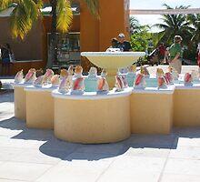 Conch Fountain  by Yvonne Mason