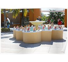Conch Fountain  Poster