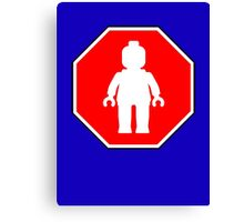 MINIFIG ROADSIGN Canvas Print