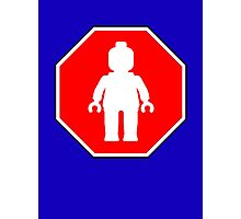 MINIFIG ROADSIGN Photographic Print