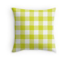 Chartreuse Gingham Throw Pillow