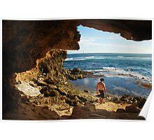Framed Seascape, Kauai Poster