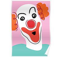 Portrait of a clown Poster
