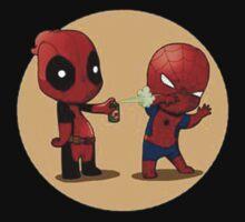 Deadpool spiderman by Veldead