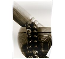 Singing Bowl and Mala Poster