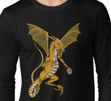 Jeweled Gold Dragon  Long Sleeve T-Shirt