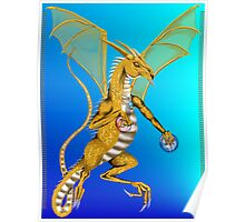 Jeweled Gold Dragon  Poster