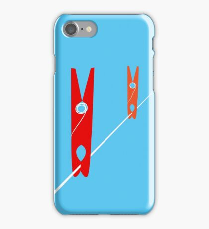 Clothes Pegs iPhone Case/Skin