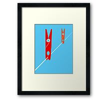 Clothes Pegs Framed Print