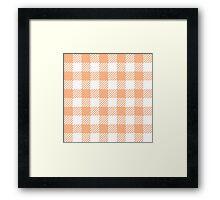 Peach Gingham Framed Print
