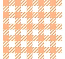 Peach Gingham Photographic Print