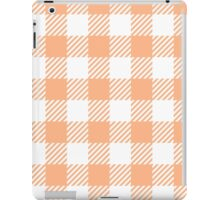 Peach Gingham iPad Case/Skin