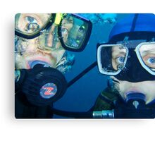 Diving buddies Canvas Print