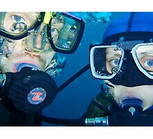 Diving buddies Photographic Print