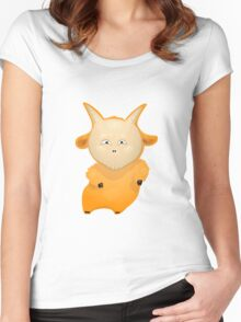 Funny cartoon goat Women's Fitted Scoop T-Shirt