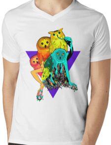 Tropicowls Mens V-Neck T-Shirt