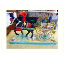 Typical Sicilian Cart Art Print