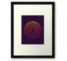 Abstract Pattern - Cycle Framed Print