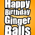 Happy Birthday Ginger Balls by StevePaulMyers