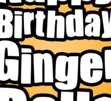 Happy Birthday Ginger Balls Sticker