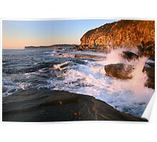 Terrigal Cliffs Assaulted, NSW, Australia Poster