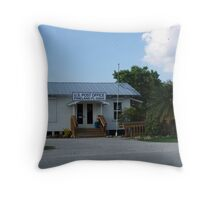 Pine Island Post Office Throw Pillow