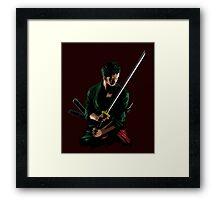 Zoro Sword Master Framed Print