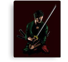 Zoro Sword Master Canvas Print