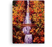 Autumn at Multnomah Falls Canvas Print