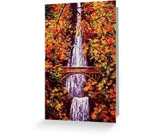 Autumn at Multnomah Falls Greeting Card