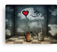 It started out as a feeling.....then grew into love Canvas Print