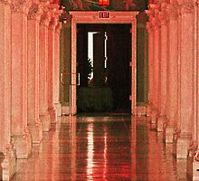 Red arch hallway by serendipity3