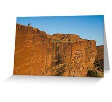 The Canyon Wall - Kings Canyon Greeting Card