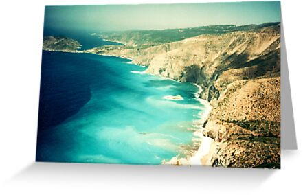 Myrtos Beach, Greece, from above by Elana Bailey