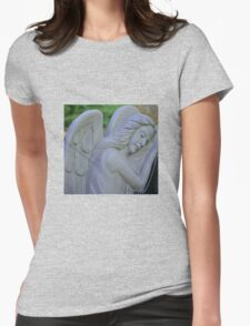 SLEEPING ANGEL Womens Fitted T-Shirt