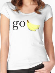 go bananas Women's Fitted Scoop T-Shirt