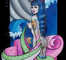 Kimono wave by Isobel Von Finklestein