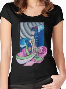 Kimono wave Women's Fitted Scoop T-Shirt