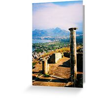Solunto. Temple Columns. Sicily, Italy 2005 Greeting Card