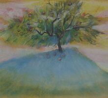 Fruit tree at sunset    2darts,  by Ian Farnbach